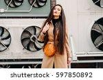 street fashion concept  full... | Shutterstock . vector #597850892