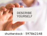 closeup on businessman holding... | Shutterstock . vector #597862148