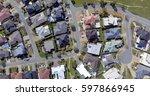 aerial view of an australian... | Shutterstock . vector #597866945