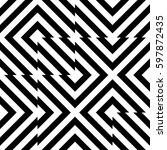 vector seamless pattern.... | Shutterstock .eps vector #597872435