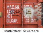 container weights and... | Shutterstock . vector #597876578