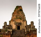 pre rup  a temple at angkor ... | Shutterstock . vector #597876608