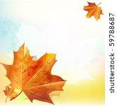 vector autumn background. eps10 | Shutterstock .eps vector #59788687