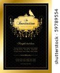 invitation card | Shutterstock .eps vector #59789554