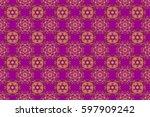 abstract raster seamless...   Shutterstock . vector #597909242
