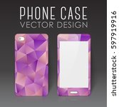case for mobile phone with... | Shutterstock .eps vector #597919916