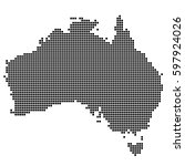 detailed map of australia made...
