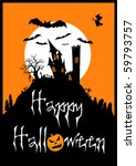 halloween vector  eps10 ... | Shutterstock .eps vector #59793757
