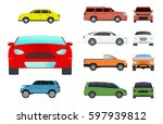 car vehicle transport type... | Shutterstock .eps vector #597939812