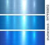metal textures blue brushed... | Shutterstock .eps vector #597950852