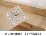 Small photo of Assembling furniture, gluing rabbet joint
