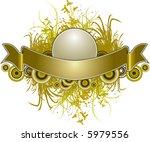 a grunge floral banner... | Shutterstock .eps vector #5979556