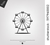 ferris wheel vector icon | Shutterstock .eps vector #597960002