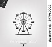 ferris wheel vector icon | Shutterstock .eps vector #597960002