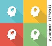 behavior flat icon concept | Shutterstock .eps vector #597964658