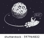 astronaut come back after... | Shutterstock .eps vector #597964832