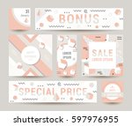 elegant modern flyers and cards ... | Shutterstock .eps vector #597976955