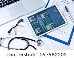 vital signs in tablet screen