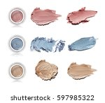 crushed eye shadow with smears... | Shutterstock . vector #597985322