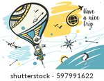 freehand drawn concept image... | Shutterstock .eps vector #597991622