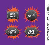 hot price and sale  deal and...   Shutterstock .eps vector #597991868