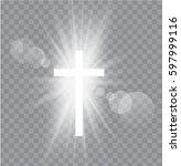 religioush three  crosses with... | Shutterstock .eps vector #597999116