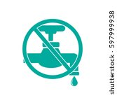 save water sign  vector... | Shutterstock .eps vector #597999938