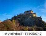edinburgh castle  scotland. | Shutterstock . vector #598000142