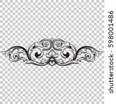 ornament in baroque style | Shutterstock .eps vector #598001486