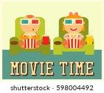 cinema poster. movie placard.... | Shutterstock . vector #598004492