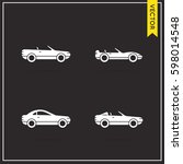 set of vector car icons | Shutterstock .eps vector #598014548
