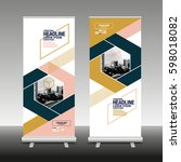 roll up business brochure flyer ... | Shutterstock .eps vector #598018082