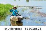mekong delta  vietnam   22 dec  ... | Shutterstock . vector #598018625