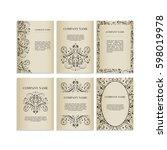 set of design templates for... | Shutterstock .eps vector #598019978