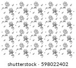 black and white pattern with... | Shutterstock .eps vector #598022402