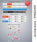 navigation menus  step panels... | Shutterstock .eps vector #59802409