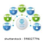 infographics flower style chart ... | Shutterstock .eps vector #598027796