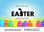 easter egg hunt vector... | Shutterstock .eps vector #598031822