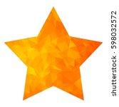 golden modern polygonal icon... | Shutterstock .eps vector #598032572
