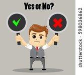 the businessman chooses between ... | Shutterstock .eps vector #598036862