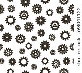 pattern of gears. vector... | Shutterstock .eps vector #598041122