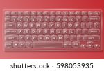 Keyboard Pc Glass With Red...