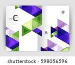 modern business brochure or... | Shutterstock .eps vector #598056596