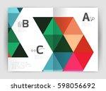 modern business brochure or... | Shutterstock .eps vector #598056692