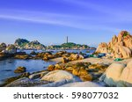 lighthouse ke ga  binh thuan... | Shutterstock . vector #598077032