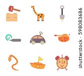 assembly flat icons kids toys   Shutterstock .eps vector #598083686