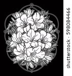 floral highly detailed hand... | Shutterstock .eps vector #598084466