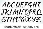 brushpen lettering vector... | Shutterstock .eps vector #598087478