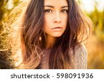 outdoor atmospheric fashion... | Shutterstock . vector #598091936