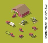 set of vector agricultural... | Shutterstock .eps vector #598093562
